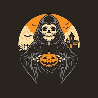 Хэллоуин жнец иллюстрация