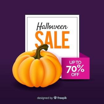 Halloween sale background with pumpkin
