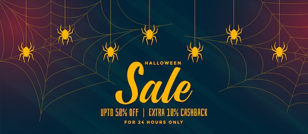 Priorità bassa di vendita di halloween con ragnatela