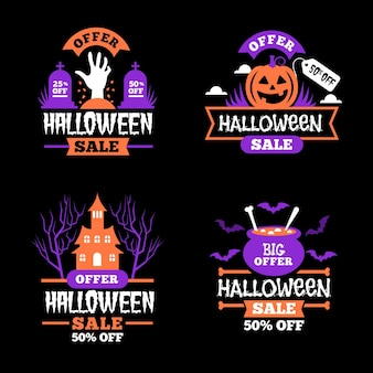 Halloween sale badge collection theme