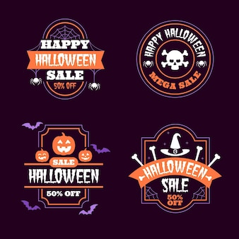 Halloween sale badge collection