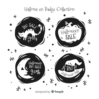 Halloween sale badges pack