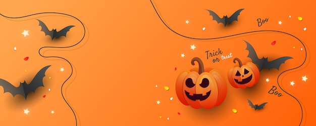 Halloween sale banner background
