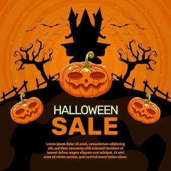 Хэллоуин продажи баннер дизайн