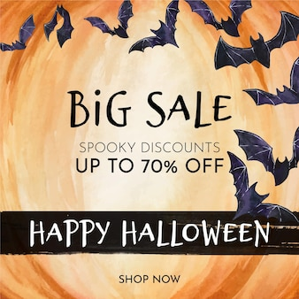 Halloween sale concept theme