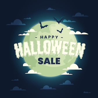 Halloween sale in flat design