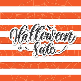 Halloween sale -  hand lettering card.
