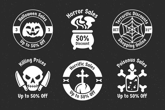 Коллекция этикеток на хэллоуин