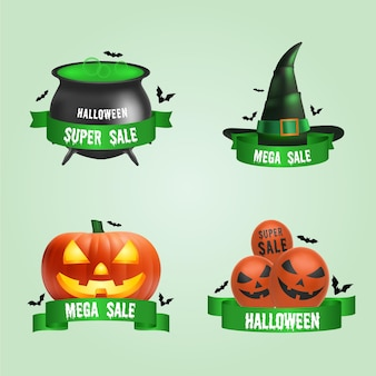 Halloween sale label pack