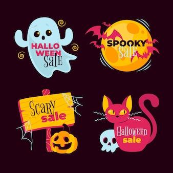 Набор этикеток на хэллоуин