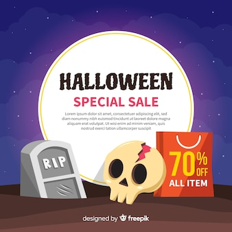 Halloween sales background