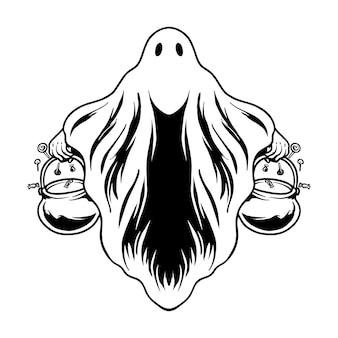 Halloween scarry costume vector illustration