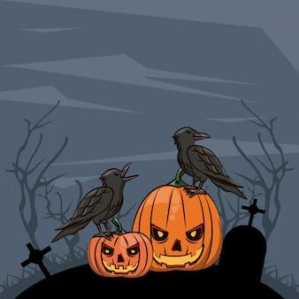 Halloween scary cartoons