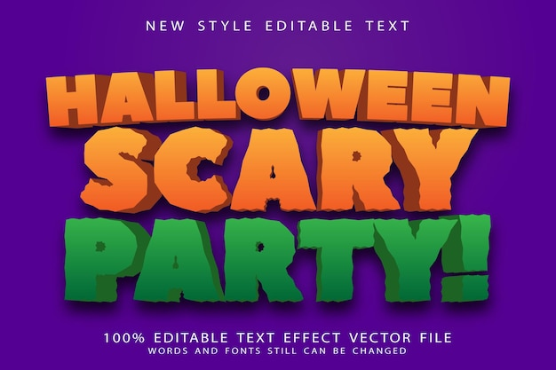 Halloween scary party editable text effect emboss modern style