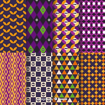 Halloween seamless geometric design pattern