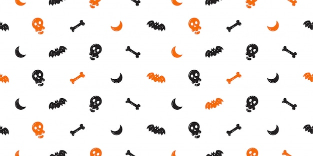 Halloween seamless pattern background cartoon style