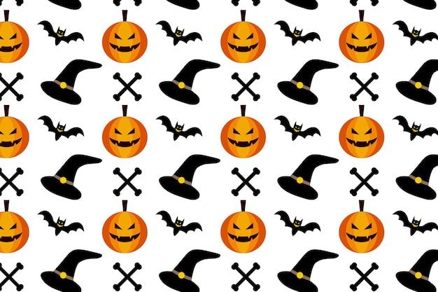 Halloween seamless pattern background trick or treat horror creepy illustration