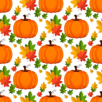 Halloween seamless pattern. background with pumpkin.