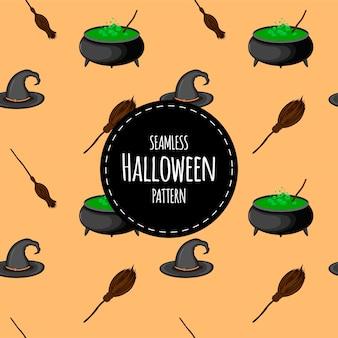 Хэллоуин бесшовные модели. мультяшный стиль. векторная иллюстрация.