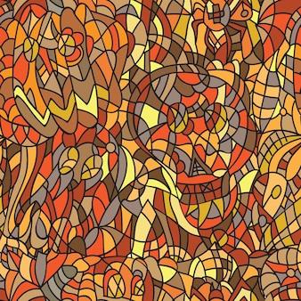ハロウィーンのシームレスなパターン-落書きスタイル-イラストベクトル