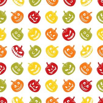お祭りのお祝いのためのハロウィーンのシームレスなパターン