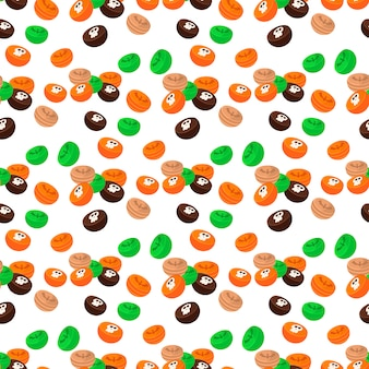 Halloween seamless pattern ghost scary.