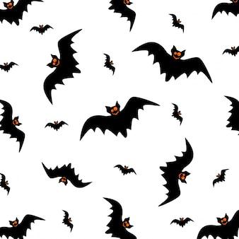 Halloween seamless pattern swarm of black bat.