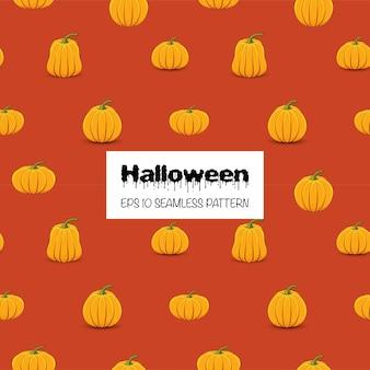 Хэллоуин бесшовные модели с тыквами. мультяшный стиль. векторная иллюстрация.