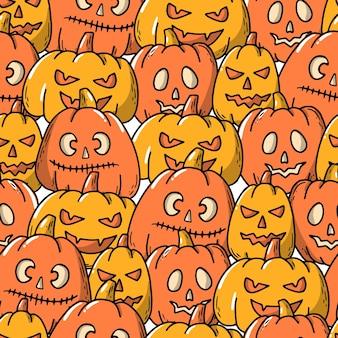 Хэллоуин бесшовные модели с тыквами
