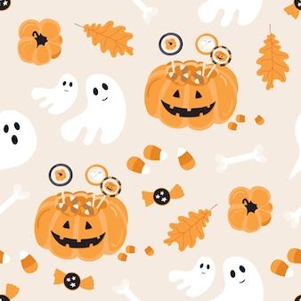 Хэллоуин бесшовные модели.