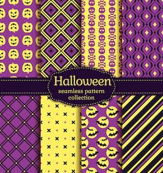 Halloween seamless patterns.  set.