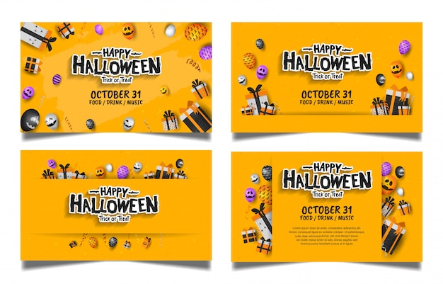 Хэллоуин набор баннеров