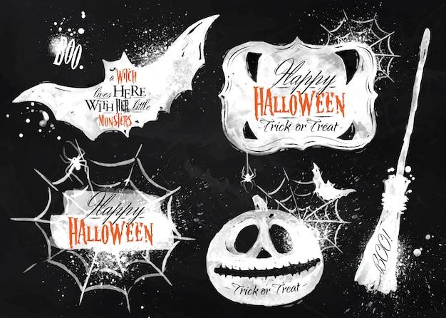 Halloween set, chalk