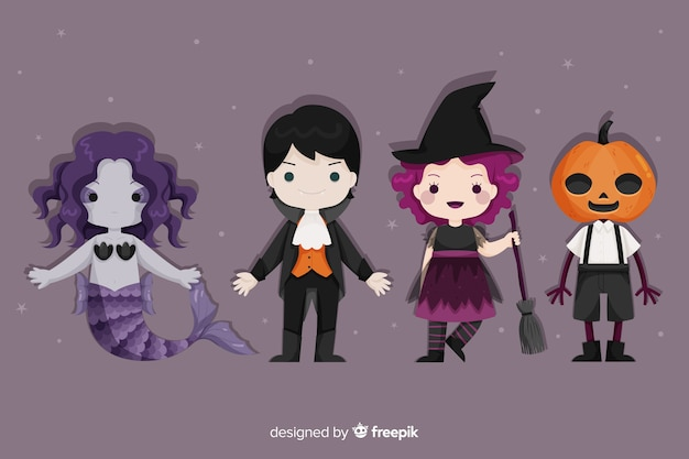 Halloween set of character costumes