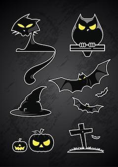 Halloween silhouette glossy