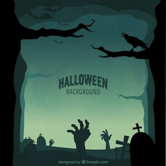 Halloween silhouettes background