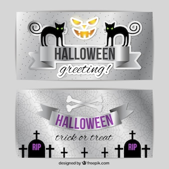 Halloween silver banners