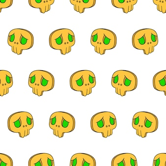 Halloween skull mask seamless pattern textile print. great for summer vintage fabric, scrapbooking, wallpaper, giftwrap. repeat pattern background design
