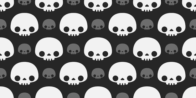 Halloween  skulls repeated seamless pattern.