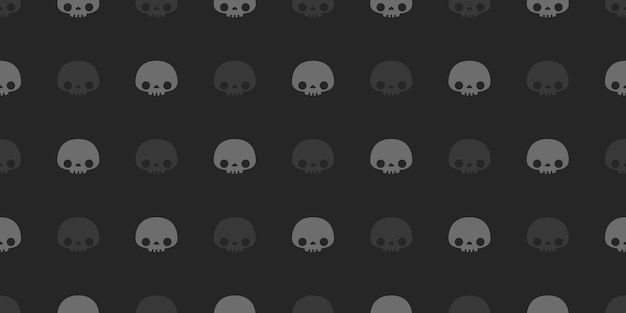 Halloween skulls  seamless pattern.