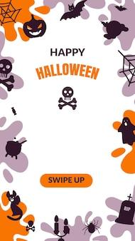 Halloween social media stories template