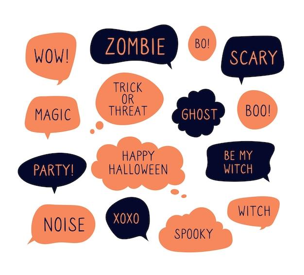 Halloween speech bubbles