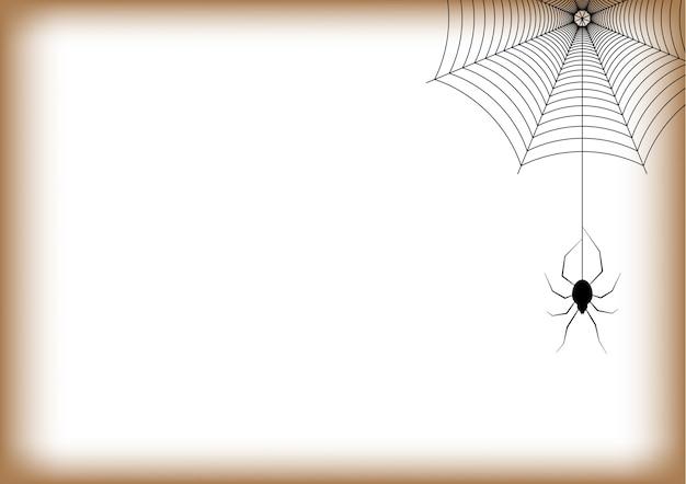 Halloween spider hanging web