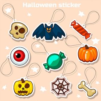 Хэллоуин наклейки иконки