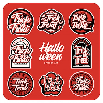 Halloween sticker pack custom typography