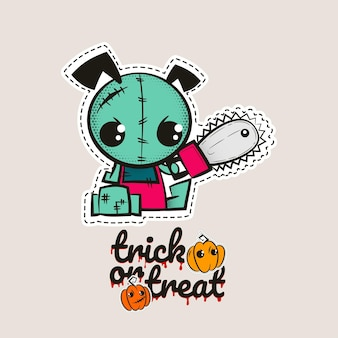 Halloween stitch zombie puppy voodoo doll evil dog sewing monster trick or treat pumpkins