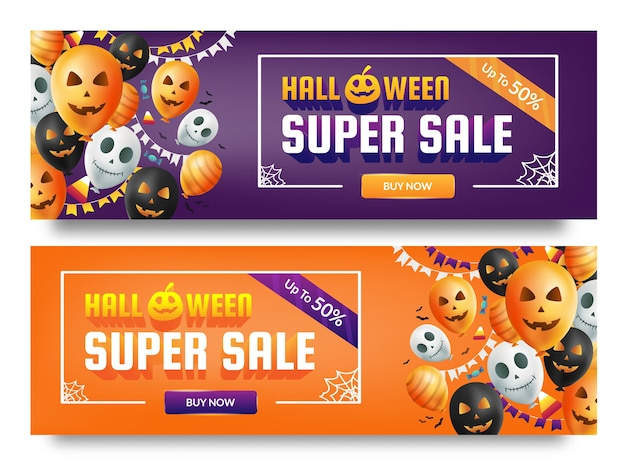 Halloween super sale poster promotion template