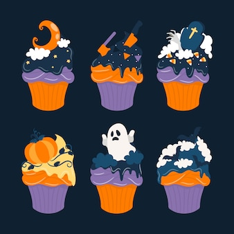Halloween sweet cupcake collection