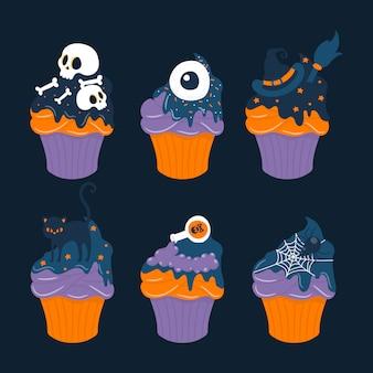 Коллекция сладких кексов на хэллоуин