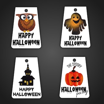 Halloween tags collection